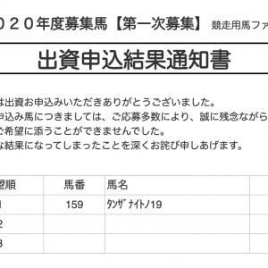 【サンデーR】2020年度第一次募集申込結果